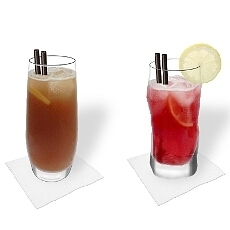 Different Long Island Ice Tea decorations