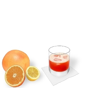 Aperol Sour served in a whiskey glass, the most common way of presenting that delicious sour.