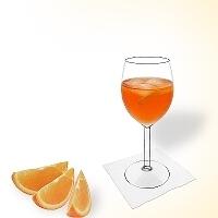 Aperol Spritz in a wine glass