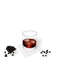 Black Russian in a tumbler glass.