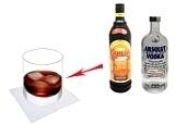 Black RussianPreparation: Stirring vodka with coffee liqueur
