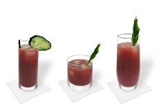 Different Bloody Mary decorations