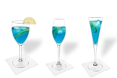 Different Blue Champagne decorations