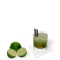 Caipirissima a Whiskey  glass.