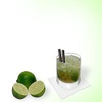 Caipirissima a Whiskey  glass.