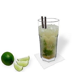 Caipirissima is a tasty summer cocktail.