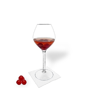 Cherry Punch is a fruity and palatable party drink.