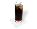 Cuba LibrePreparation: Filling up with Coke and serve