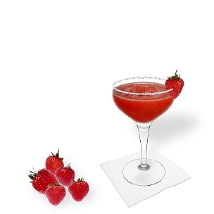 Another great option for Frozen Strawberry Margarita, a cocktail saucer.