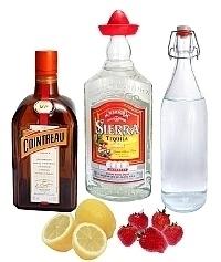 Frozen Strawberry Margarita ingredients: With Fresh Strawberries (standard)