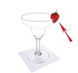 Frozen Strawberry MargaritaPreparation: Strawberry decoration