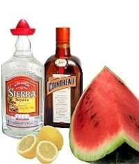 Frozen Watermelon Margarita ingredients: With Fresh Watermelon (standard)