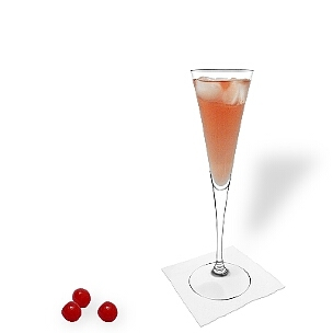 Kir Royal you serve in champagne or wine glasses without decoration.
