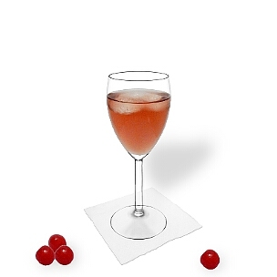 Kir you serve in champagne or wine glasses without decoration.