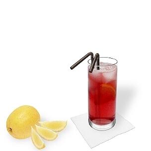 Nice colour, good taste and a lot of booze, thats Long Beach Ice Tea.
