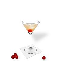 Manhattan in a martini glass.