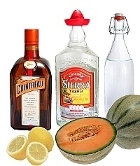Melon Margarita ingredients: With Fresh Melon (standard)