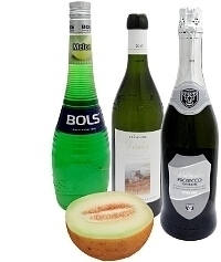 Melon punch ingredients: With Melon Liqueur (standard)