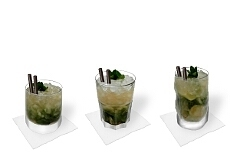 Different Mojito decorations