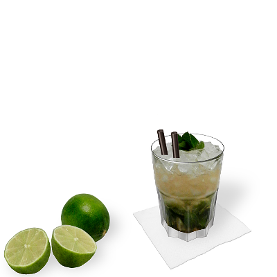 Mojito with individual decoration