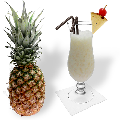 Piña Colada with individual decoration