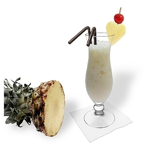 Piña Colada is a tasty coconut cocktail from Puerto Rico.