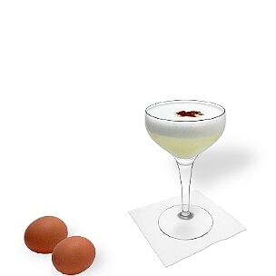 Pisco Sour is a cocktail with a raw egg and Pisco.