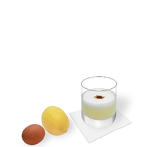 Tumbler or wine glasses are ideal for Pisco Sour.