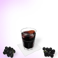Red wine Coke in a tumbler glass.
