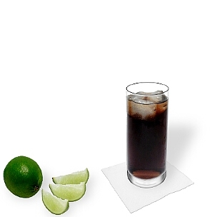Rum and Coke served in a long-drink glass, a great option to present that delicious drink.