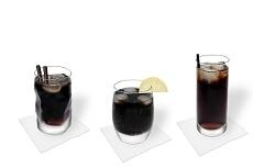 Different Rum Coke decorations