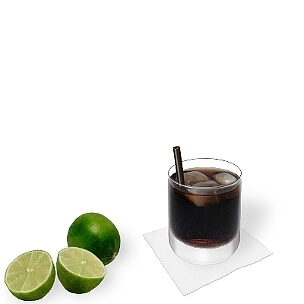 Apart of small-sized long-drink glasses all kind of tumblers are ideal for Rum and Coke.