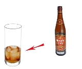 Rum and CokePreparation: Rum and ice cubes