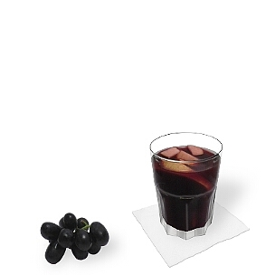 Tumbler glasses, small long-drink glasses or wine glasses are ideal for Sangria.