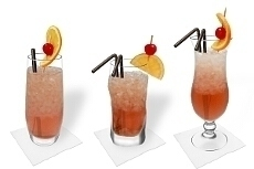 Different Singapore Sling decorations