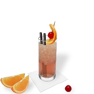 Long-drink glass are the most common way of presenting Singapore Sling.