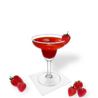 Strawberry Margarita with individual decoration