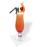 Tequila SunrisePreparation: Serving