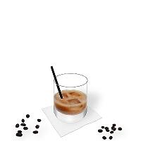 White Russian in a tumbler glass.